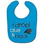 NFL Carolina Panthers  I Drool Blue & Black  Bib
