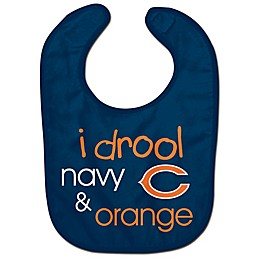 "NFL Chicago Bears ""I Drool Navy & Orange"" Bib"