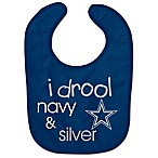 NFL Dallas Cowboys  I Drool Navy & Silver  Bib