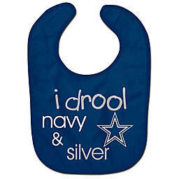 "NFL Dallas Cowboys ""I Drool Navy & Silver"" Bib"