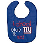 NFL New York Giants  I Drool Blue & Red  Bib