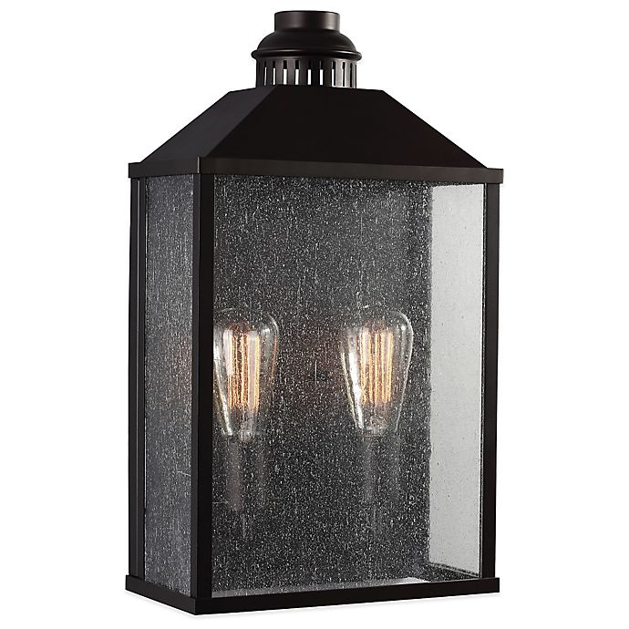 Alternate image 1 for Feiss Lumiere Wall-Mount 19-Inch Outdoor Lantern in Oil Rubbed Bronze