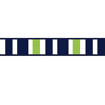 Sweet Jojo Designs Navy and Lime Stripe Wallpaper Border