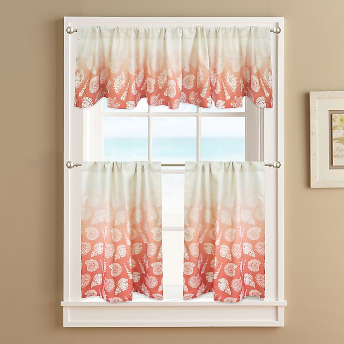 Alternate image 1 for Seascape Lined Window Curtain Tier Pair