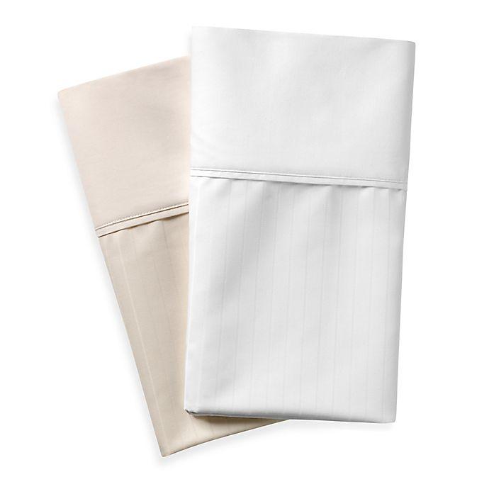 Alternate image 1 for Wamsutta® 620-Thread-Count Cotton Deep Pocket Stripe Sheet Set