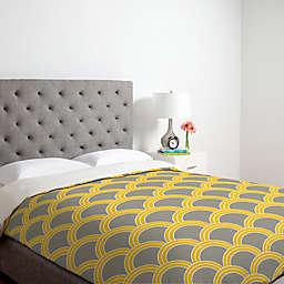 Deny Designs Caroline Okun Jaune Duvet Cover in Yellow