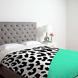Deny Designs Rebecca Allen Leopard And Mint Duvet Cover