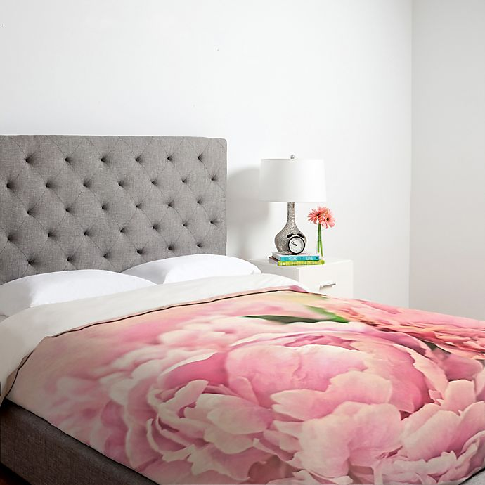 Alternate image 1 for Deny Designs Lisa Argyropoulos Pink Peonies Duvet Cover