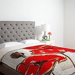 Deny Designs Irena Orlov Red Perfection Duvet Cover in Cream