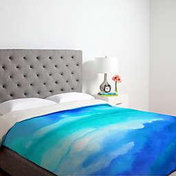 Deny Designs Jacqueline Maldonado Rise 2 Twin Duvet Cover in Blue