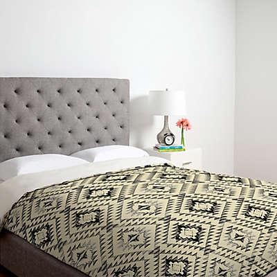 Deny Designs Pattern State Tile Tribe Duvet Cover in Grey