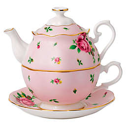 Royal Albert New Country Roses 3-Piece Tea Party For One Set in Pink