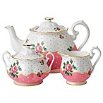 Royal Albert Cheeky Pink Vintage 3-Piece Tea Set