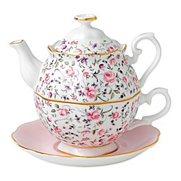Royal Albert New Country Roses 3-Piece Tea Party For One Set in Rose Confetti