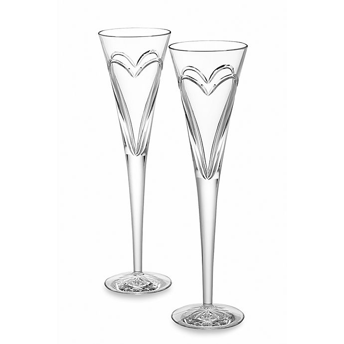Alternate image 1 for Waterford® Wishes Love and Romance Toasting Flutes (Set of 2)