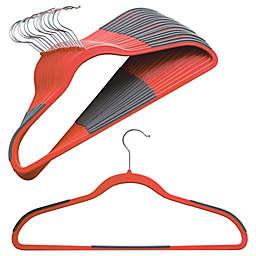 Studio 3B™ Slim Grips™ Clothing Hangers in Red Orange (Set of 16)