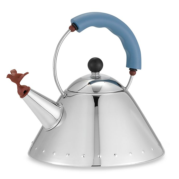 Alternate image 1 for Alessi Michael Graves Stainless Steel Tea Kettle