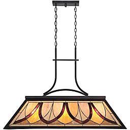 Quoizel Asheville 3-Light Island Light in Valiant Bronze