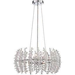 Quoizel® Valla 6-Light Ceiling Mount Pendant in Polished Chrome