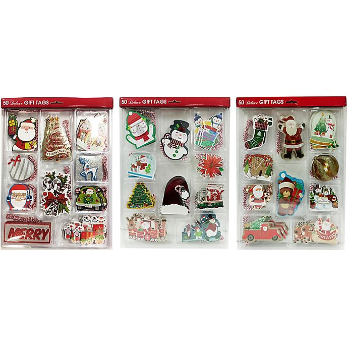 Alternate image 1 for The Lindy Bowman Company 50-Count Deluxe Christmas Gift Tags