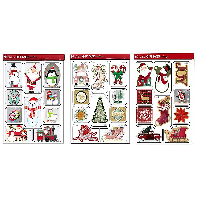 Alternate image 1 for Lindy Bowman 50-Count Deluxe Assorted Holiday Gift Tags
