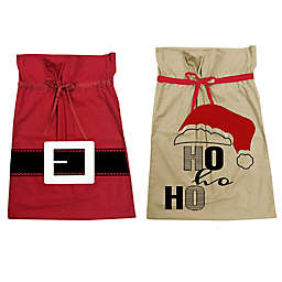 Assorted Extra Large Christmas Canvas Drawstring Bags