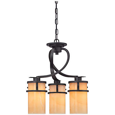 Quoizel Kyle 3-Light Ceiling-Mount Dinette Light with Onyx Shade