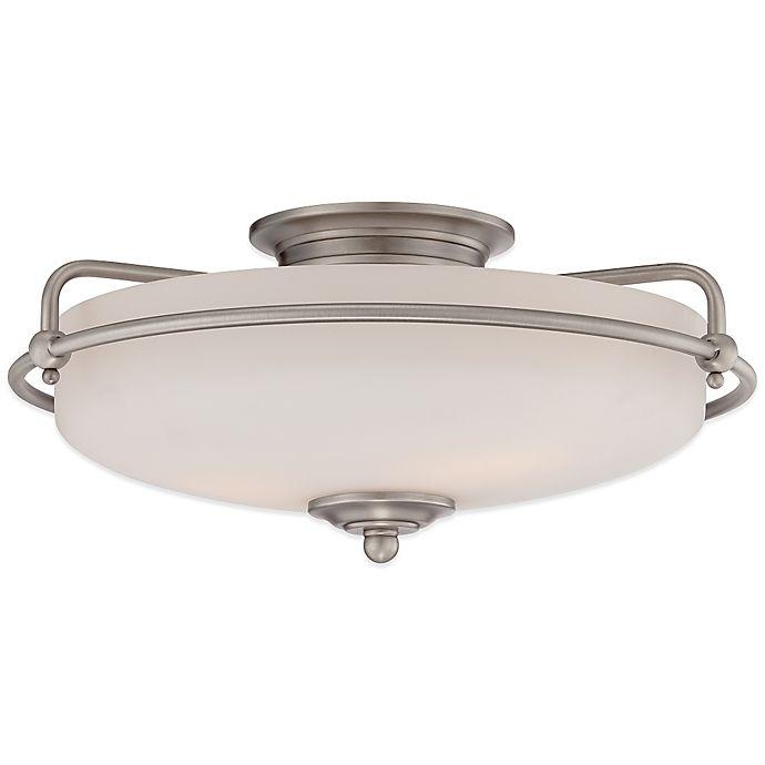 Alternate image 1 for Quoizel® Griffin Large 3-Light Floating Flush-Mount Ceiling Light