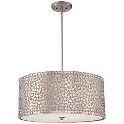 Quoizel Confetti 4-Light Pendant Light Fixture in Old Silver