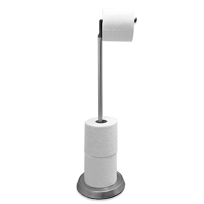 Umbra Toilet Paper Stand With Silicone Head In Brushed Nickel