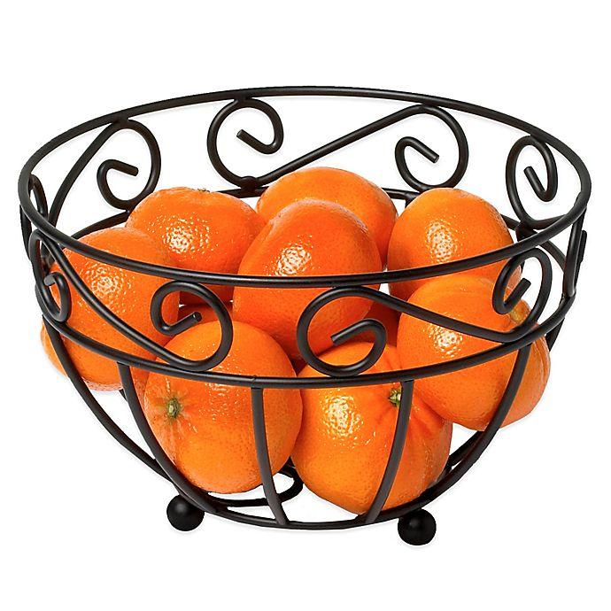 Alternate image 1 for Spectrum™ Scroll Mini Fruit Bowl in Black