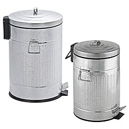 Wenko Steel Step-On Trash Can