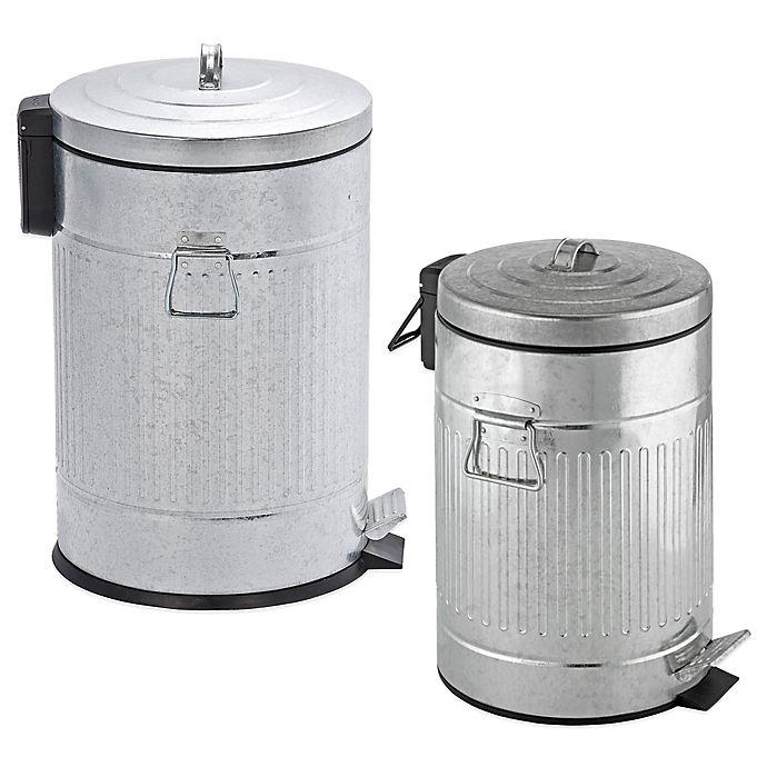 Alternate image 1 for Wenko Steel Step-On Trash Can