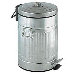 Wenko Steel 12-Liter Step-On Trash Can
