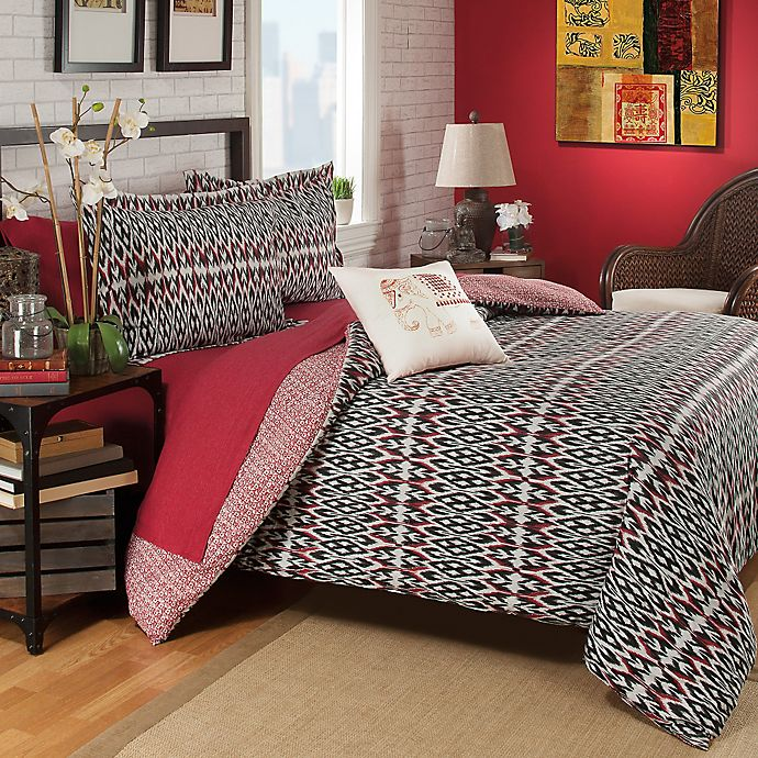 Alternate image 1 for Brooklyn Flat Zuna Reversible Duvet Cover in Red