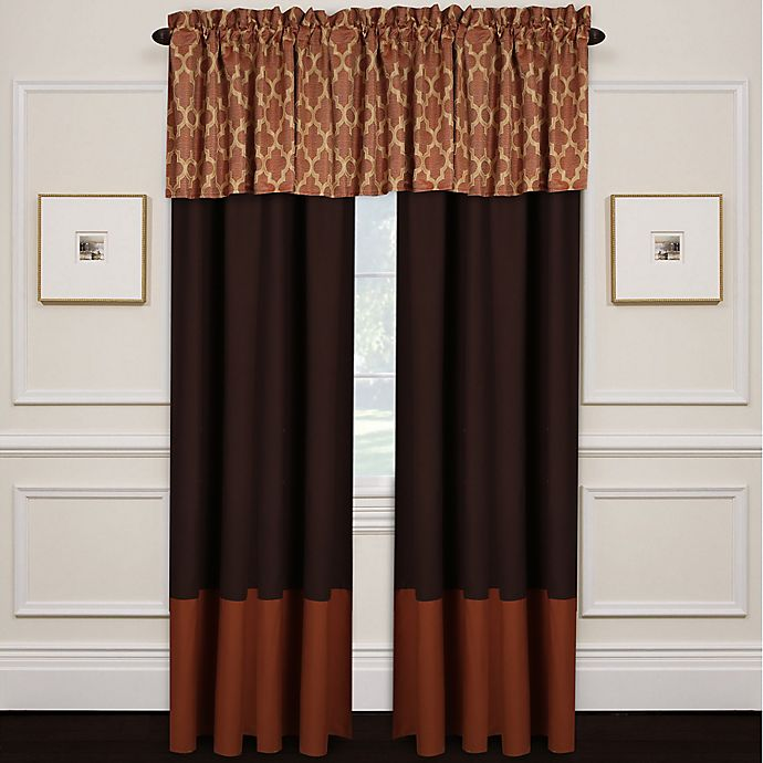 Wayfield Window Curtain Panel And Valance In Spice Bed