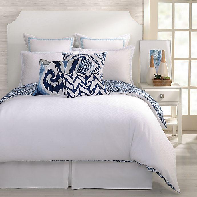 Trina Turk Silver Lake Reversible Comforter Set In Blue