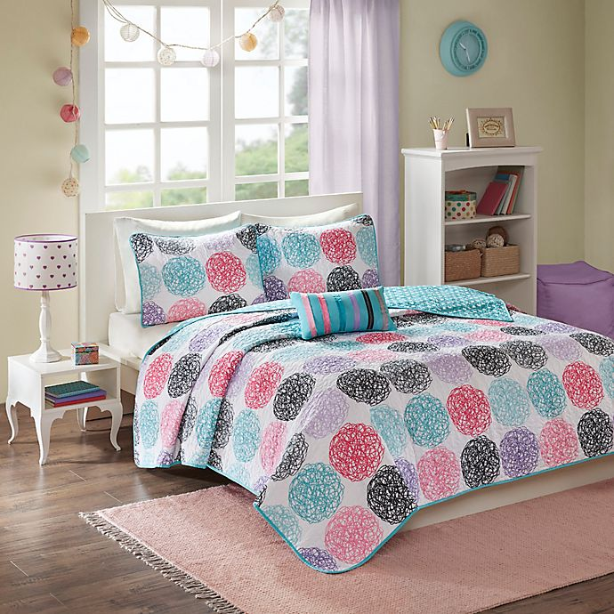 Alternate image 1 for Mi Zone Carly Twin/Twin XL Coverlet Set in Purple