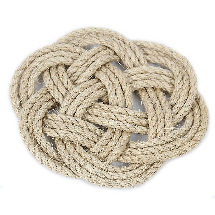 Alternate image 1 for Latitude 38 9-Inch Nautical Jute Rope Knot Trivet
