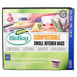 BioBag® Compostable 48-Pack 2.6-Gallon Small Kitchen Bags