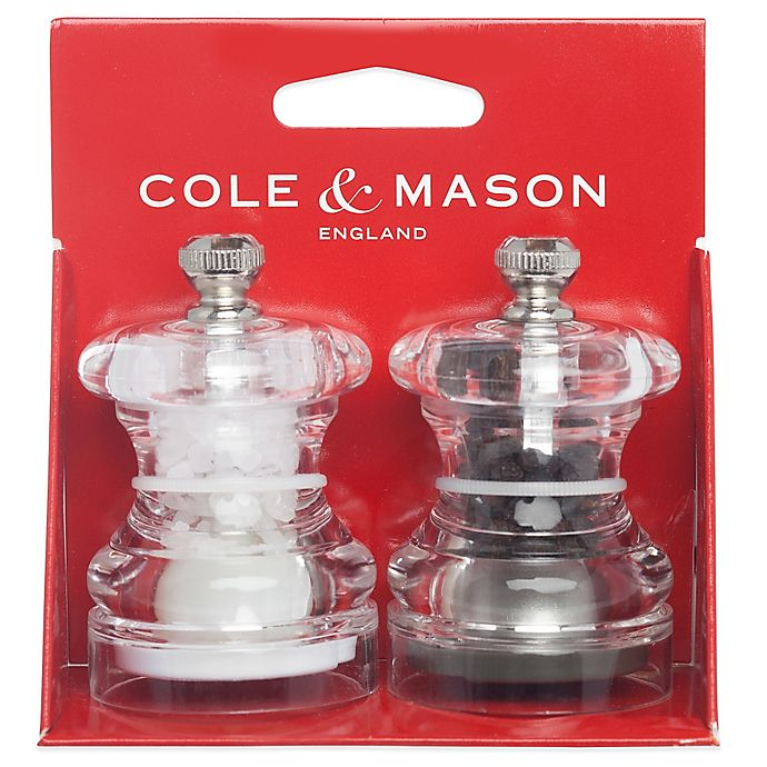 Alternate image 1 for Cole & Mason Button Salt and Pepper Mill Set