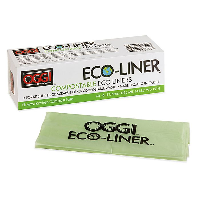 Alternate image 1 for Oggi™ Eco-Liner™ 40-Pack 1.5-Gallon Compost Pail Liners