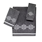 Avanti Riverview Fingertip Towel in Nickel/Silver