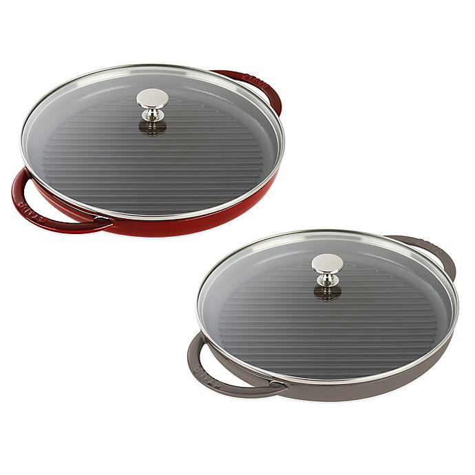Alternate image 1 for Staub Cast Iron Steam Grill with Glass Lid