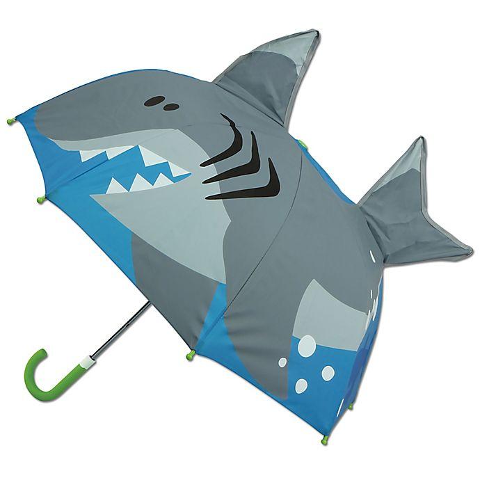 Alternate image 1 for Stephen Joseph® Pop Up 3-D Shark Umbrella