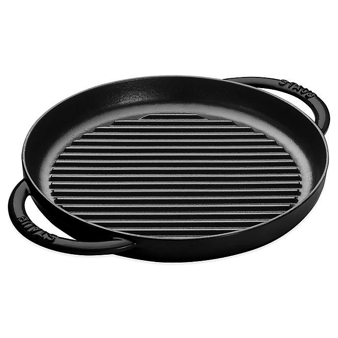 Alternate image 1 for Staub 10-Inch Cast Iron Pure Grill in Black Matte