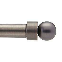 Umbra® Cappa Decorative Window Curtain Rod Ball Caps in Brushed Pewter (Set of 2)