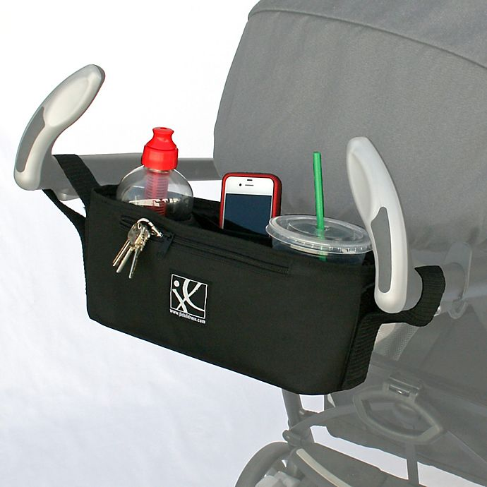 Alternate image 1 for J.L. Childress Parent Tray for Strollers with Chevron Lining in Black