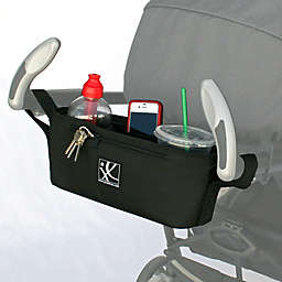 J.L. Childress Parent Tray for Strollers with Chevron Lining in Black