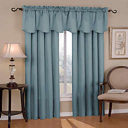 Eclipse Canova Rod Pocket Room Darkening Window Curtain Panel and Valance